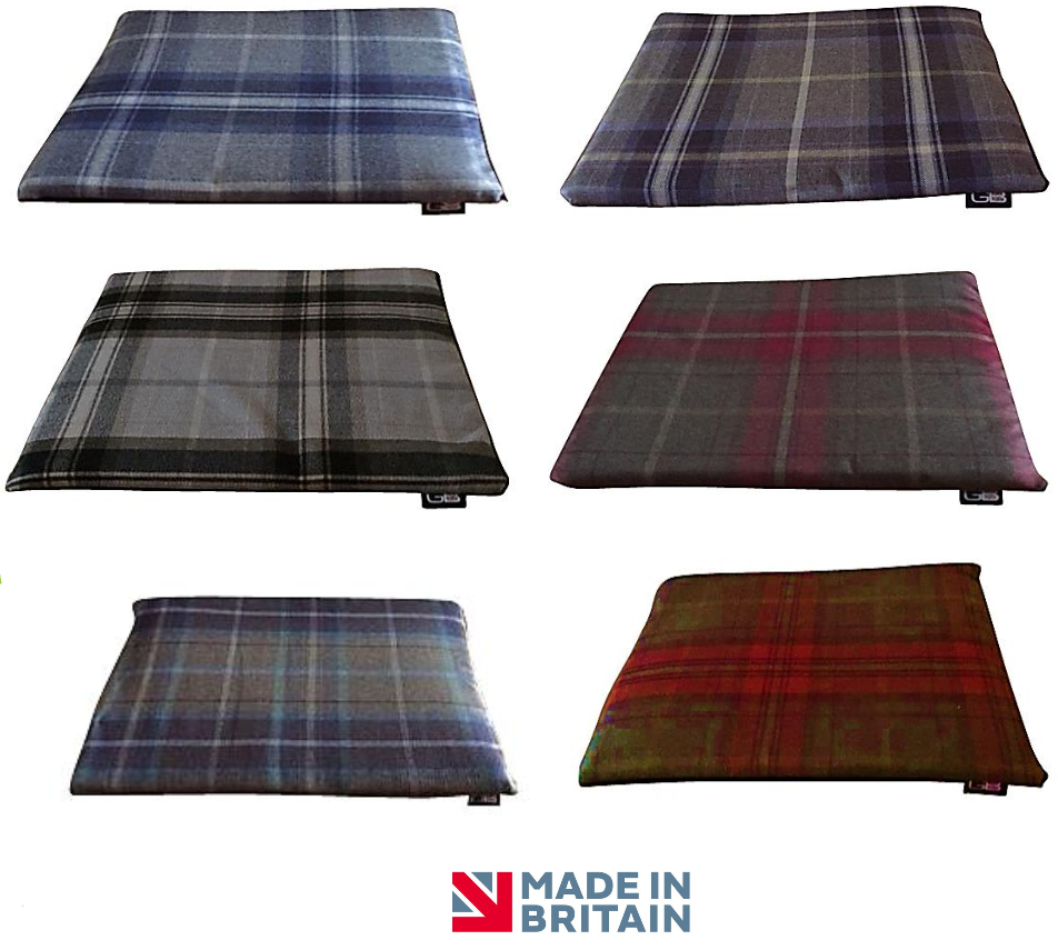 Country Range Luxury Crate / Cage Mat | Tartan Check Fabric | Hand Made To Order | Machine Washable
