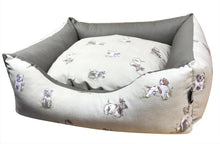 Load image into Gallery viewer, Country Range Dog Bed Basket Settee | Hand Made To Order | Bedding for Dogs and Puppies | Machine Wash at 40c