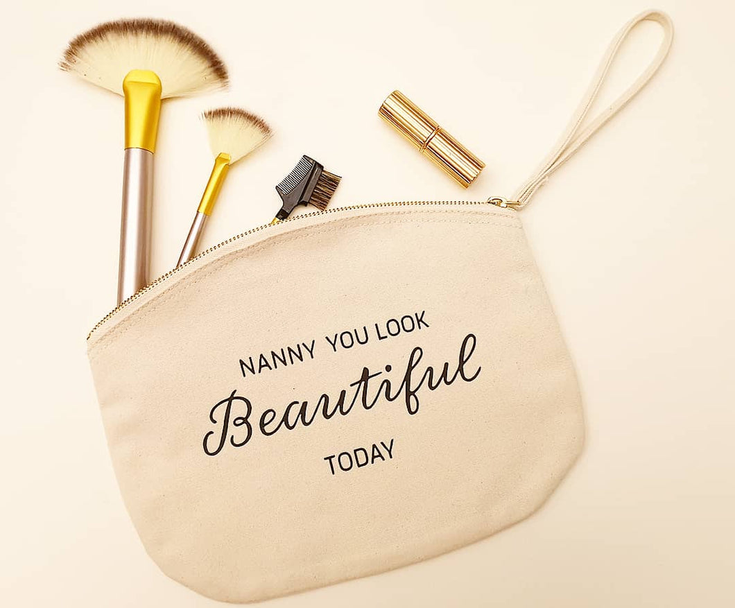 100% cotton personalised make up bag