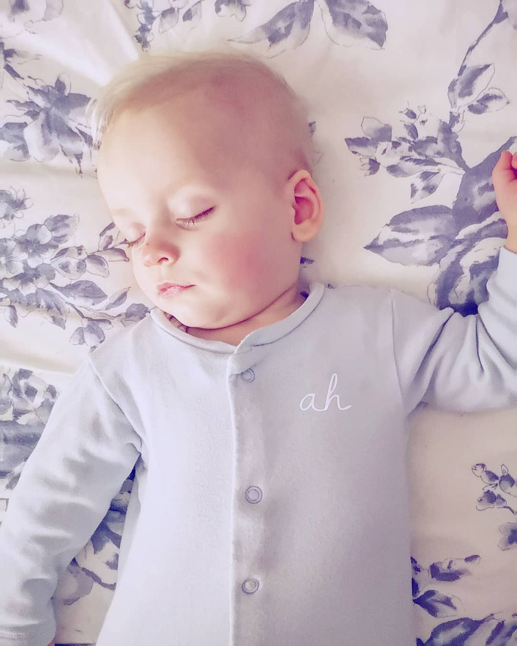 Hand Made Personalised Initial Sleepsuit New Born To 18 Months