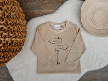 Load image into Gallery viewer, Hand Made Childrens Vests, Bodysuits & T-shirts 3-6M to 12 Yrs Forest School - Camp Sign Post