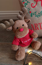 Load image into Gallery viewer, Christmas Reindeer Teddy With Personalised Jumper Top