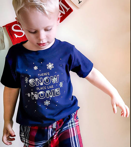 There's Snow Place Like Home Loungewear Childrens Top & Bottom Set 6-12M - 3-4Y