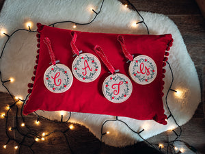 Christmas Tree Decoration With Personalised Initial Hand Made & Designed