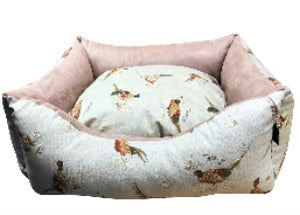 Country Range Dog Bed Basket Settee | Hand Made To Order | Bedding for Dogs and Puppies | Machine Wash at 40c