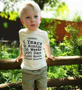 Hand Made Birthday Count T-shirt