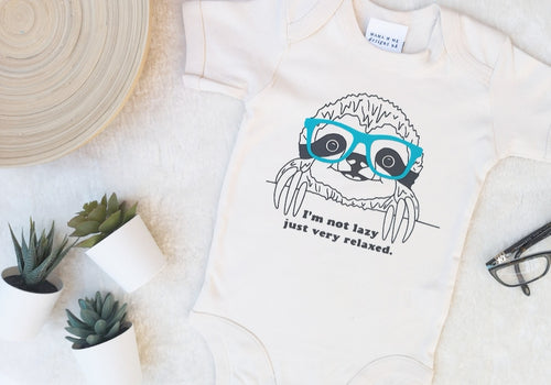 Hand Made Children's Tops 0-3M to 5 Yrs So Lazy Sloth