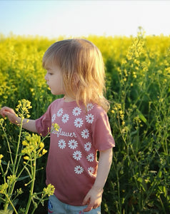 Hand Made 0-3 Months to 5yrs Wild Flower Vests & T-Shirts