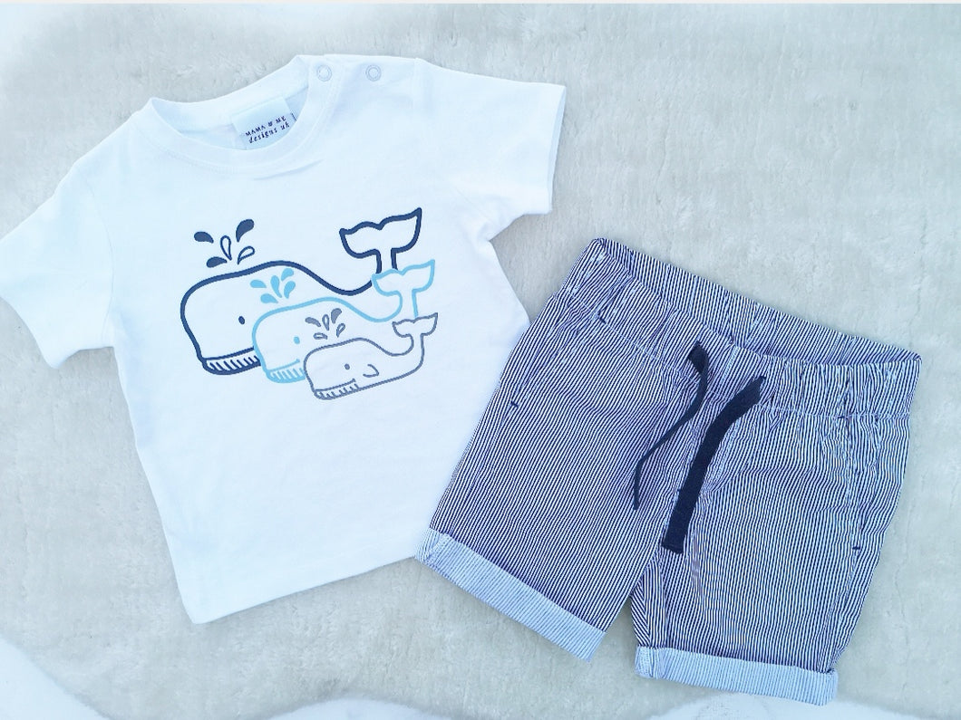 Hand Made Children's Tops 3-6M to 5 Yrs Three Whales
