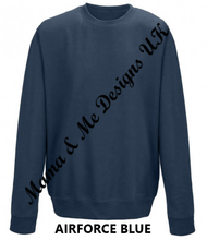 Load image into Gallery viewer, Hand Made Fancy Text Style Personalised Name  ___ Is For______Adult Ladies Jumper UK Sizes 8-22