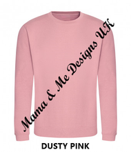 Load image into Gallery viewer, Hand Made Beautiful Print Adult Ladies Sweatshirt/Jumper UK Sizes 8-22