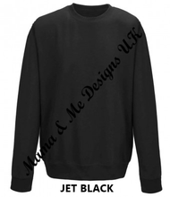 Load image into Gallery viewer, Hand Made Personalised Adult Unisex Sweatshirt/Jumper UK Sizes 8-24