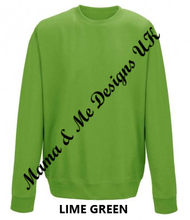 Load image into Gallery viewer, Hand Made Fatherhood Perfection Is Not Required Jumper/sweatshirt UK Sizes 8-22