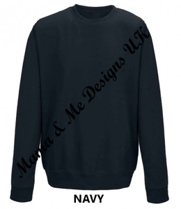 Hand Made Beautiful Chaos Adult Ladies Sweatshirt/Jumper UK Sizes 8-22