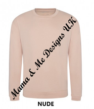 Load image into Gallery viewer, Hand Made Beautiful Chaos Adult Ladies Sweatshirt/Jumper UK Sizes 8-22