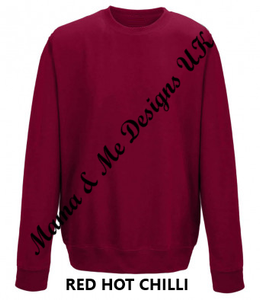 1 Christmas Design Adult Unisex Jumper / Sweatshirts In 3 Different Design Options