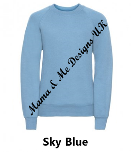 Inspired Children's Jumpers 1 to 13 Yrs (You Choose The Text 7 Options Available)