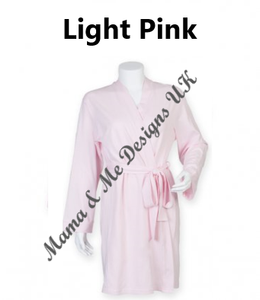 Hand Made 100% Cotton Lightweight Mama Bath Robe / Dressing Gown