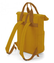 Load image into Gallery viewer, Hand Made Explore The Unseen Back Pack Twin Handle Rolltop Closure Explorer Style