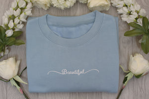 Beautiful printed with high quality vinyl to a stylish adult ladies jumper/sweatshirt by Mama & Me Designs UK