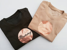 Load image into Gallery viewer, Mummy cut fron a high quality Copper Surround vinyl to Jumpers by Mama & Me Designs UK
