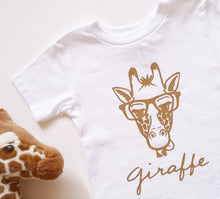Load image into Gallery viewer, Hand Made Clever Giraffe T-Shirt From 0-3 Months to 5 years