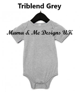Hand Made Personalised Print Children's Vests & T-shirts 0-3M to 5 Yrs