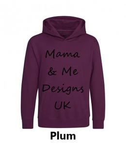 Inspired Range Adults Unisex Hoody UK Sizes 8-22 (Choose your Text 7 Options Available)