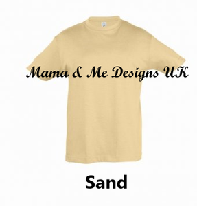 Hand Made _____ is for _____ Fancy Style Personalised Children's T-Shirts Vests 0-3M to 5 Yrs
