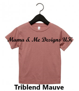 Hand Made 0-3Months to 5yrs Fancy Text Style Personalised Name ___ is for___ Children's Clothing