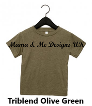 Load image into Gallery viewer, Copy of Hand Made Bigger Kids T-Shirt 2-12 Yrs Personalised Print