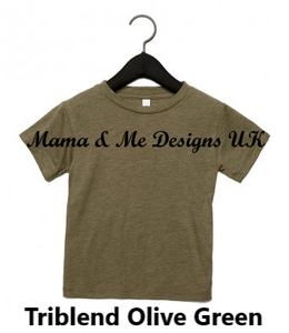 Copy of Hand Made Bigger Kids T-Shirt 2-12 Yrs Personalised Print