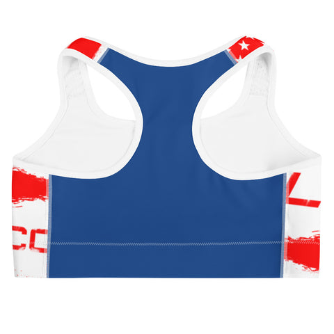 Red White and Badass Women's Sports Bra