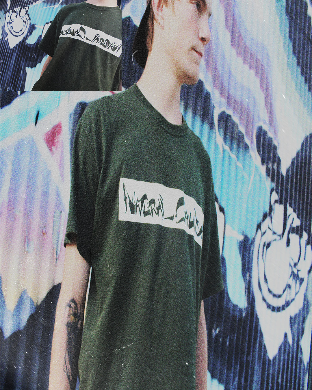 "Forest Green ""Script"" T-Shirt"