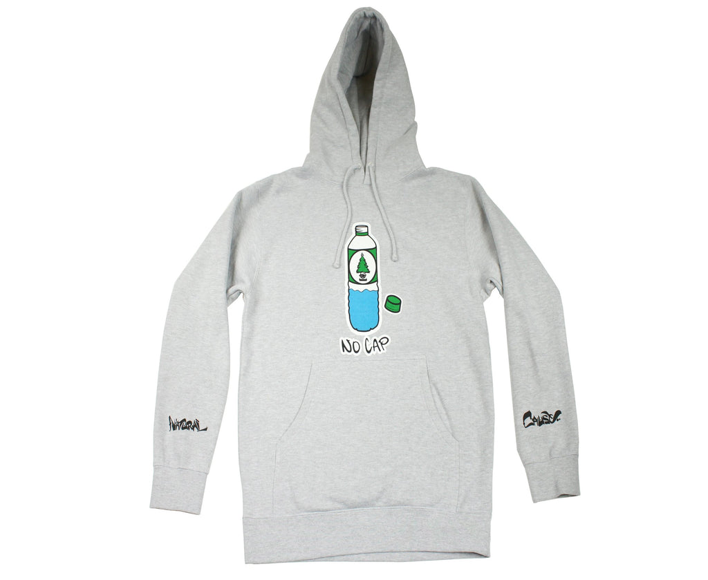 "Heather grey ""No Cap"" hoodie"