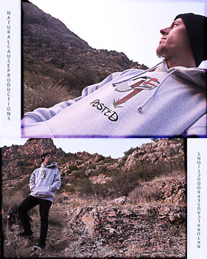 "Heather Grey ""Posted"" Hoodie"