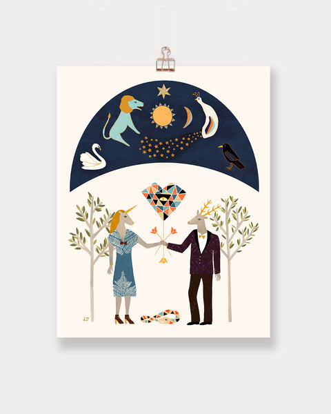 Alchemical Marriage Art Print