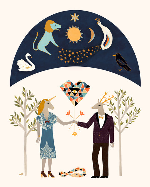 Alchemical Marriage Art Print by Sophiequi