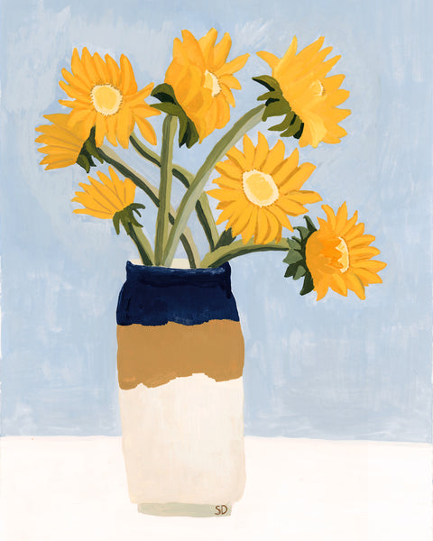 Seven Sunflowers Art Print