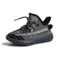 MOF Kids reflective lace up sneakers sneakers MOF for kids Black 9.5