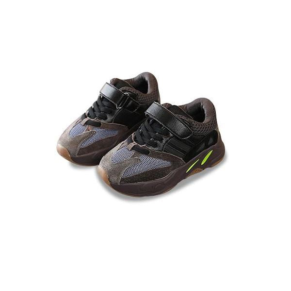 MOF Kids brown textured touch strap sneakers Shoes MOF for kids Brown 5.5