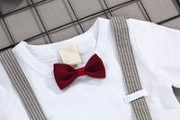 MOF Kids boys bow tie clothing set T-shirt & shorts