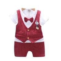 MOF kids boys bow tie clothing set gentleman suit