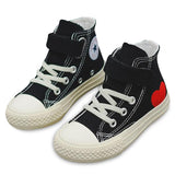 MOF Kids shoes high top canvas touch strap sneakers