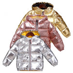 MOF Kids girls metallic hooded coat