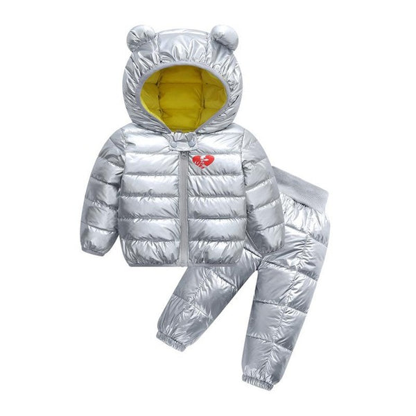 MOF Kids infant toddler snowsuit hooded coat & pants