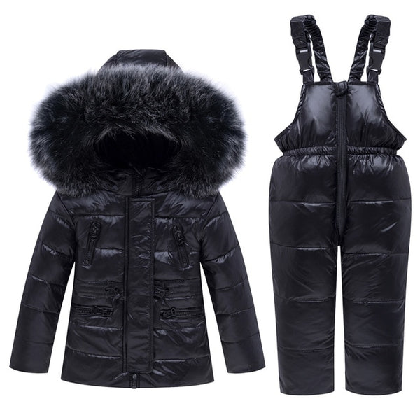 MOF Kids infant snowsuit boy girl parka coat & pants toddler snowsuit
