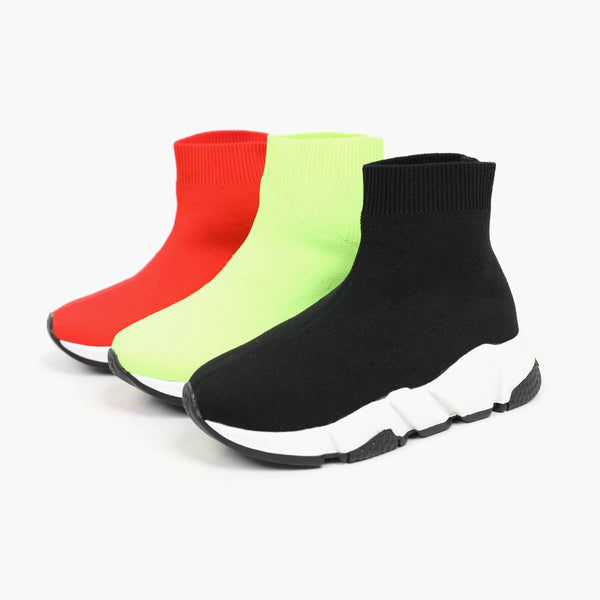 MOF Kids sock trainer hi top sneakers