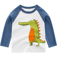 MOF Kids white sweatshirts toddler sweatsuit dinosaurs print