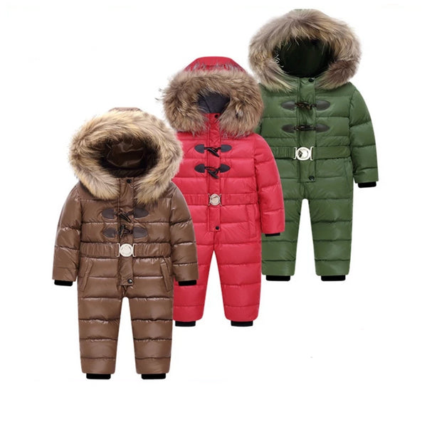 MOF Kids winter jumpsuit white duck down fill